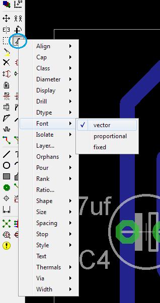 Példa a feliratok vektorossá konvertálására.